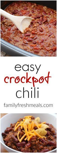 Such an easy chili recipe. Can be made in the crockpot or stove top. #familyfreshmeals