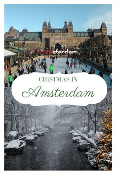 Chistmas is my favorite time of the year and Amsterdam when covered by snow becomes a winter paradise :) Amsterdam Christmas, Amsterdam Winter, Visit Amsterdam, Amsterdam Travel, Europe Destinations, Europe Travel Tips, European Travel, Travel Guides, Weekend Vacations