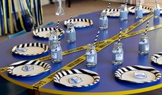 Police Birthday Party Decorations - table setting