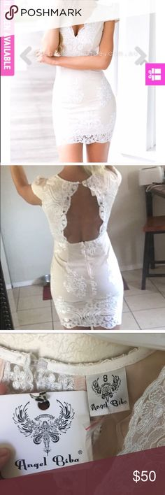 Stunning and elegant white dress Never worn and still has tags! Sizing is Australian so an 8 is a US 4. Dresses Mini