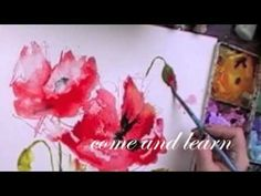 poppy painting workshop in watercolor - YouTube