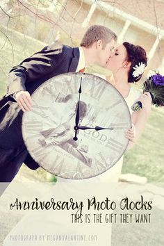 Wedding memories are a gift that keep for all time. LOVE me some custom designer photo clocks! Perfect gift for that special anniversary coming up.