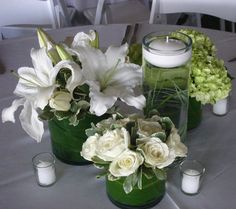 Flowers, Reception, White, Green, Decor, Wedding, Centerpieces, Designers, San diego wholesale flowers