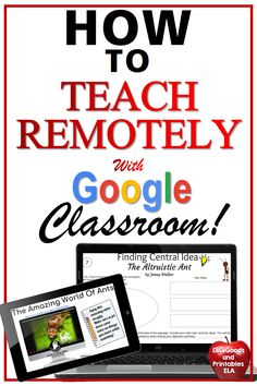 You will LOVE Teaching with technology and Google Classroom! Ideas for using Google Slides to teach ELA for middle school or any grade level. Great for distance learning, remote learning, at home learning, flipped classrooms, or directly in the classroom!