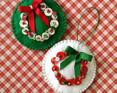 felt christmas ornaments on Etsy, a global handmade and vintage marketplace.