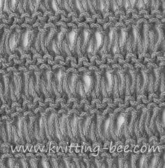 Drop Stitch Garter Knitting Pattern Making a dish cloth out of this pattern. Possibly a future sweater vest. Loom Knitting, Knitting Stitches, Knitting Patterns Free, Stitch Patterns, Free Knitting, Garter Stitch, Knitted Blankets, Knitting Projects, Knitting