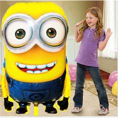 Large Size Minions Inflatable Balloon toys Despicable Me 2 Birthday Globos Party Festival Foil Air Balloon Festa Ball Balao Minion Balloons, Balloon Cartoon, Balloon Toys, Big Balloons, Mylar Balloons, Wedding Balloons, Birthday Balloons, Disney Balloons, Balloon Party