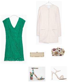look boda día vestido verde