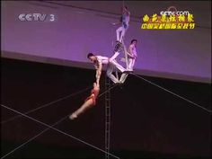 North Korea flying trapeze girls perform and compete at China Wuqiao International Circus Festival and won the gold lion prize. Flying Trapeze, Preschool Circus, Circus Acts, North Korea, Finland, Acting, Dance, Girls, Dancing
