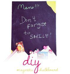 My Magnetic Chalkboard #tutorial #diy #magnetic #chalkboard #home #decor