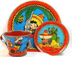 1940s Ohio Art tin toy tea setting. by AlliesAdornments, via Flickr