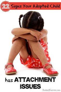 Signs & symptoms of Reactive Attachment Disorder (RAD) in children. #adoption