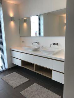 Badkamermeubel. Ontwerp en realisatie www.meubelenmaatwerk.nl/www.steigerhoutenzo.nl Double Vanity, Bathroom, Washroom, Full Bath, Bath, Bathrooms, Double Sink Vanity