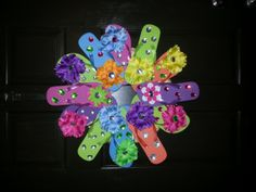 Hey, I found this really awesome Etsy listing at https://www.etsy.com/listing/154661850/flip-flop-wreath
