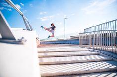 Photoshoot Nijmegen  June 2015 Dancer Amber Jongmans Photografer Tim Jongmans www.wedostudio.nl #dance #dancer #nijmegen #wedostudio #dancephoto #outside #summer #jump #karate