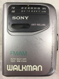 Sony Walkman WM-FX141 Portable FM/AM Radio Cassette Player Anti-Rolling  | eBay