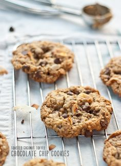 Toasted coconut chocolate chip cookie recipe