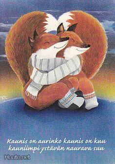 Kaarina Toivanen Valentines Illustration, Fox Illustration, Happy Friendship Day, Fox Art, Funny Art, Cute Photos, Animals And Pets, Fairy Tales, Finland