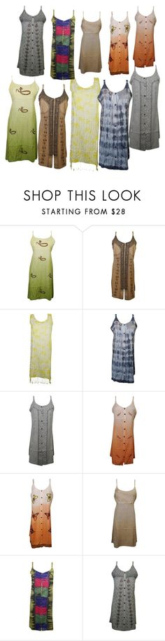 """Tank Dress"" by tarini-tarini ❤ liked on Polyvore featuring Summer, hippie, TankDress, fashiondress and bohodress"
