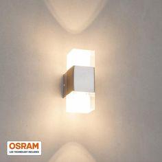 Applique LED carrée Lucian à 2 lampes LAMPENWELT
