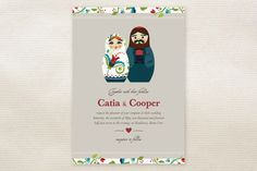 Russian Nesting Dolls Wedding Invitations by Britt Clendenen at minted.com
