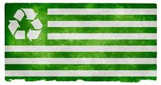 Earth Day Recycle Flag
