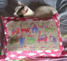 cross stitch - cute funky cats