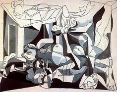 The Mass Grave - 1945 - Pablo Picasso #art