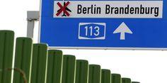 Autobahnschild Berlin Brandenburg