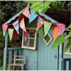 Bunting cubby house love the paint colour
