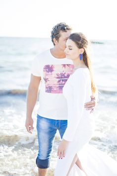 """""""Because there's nothing more beautiful than the way the ocean refuses to stop kissing the shoreline""""~ Sarah Kay ~ My Favorite Image, Engagement Couple, Engagement Photography, Couples, Couple Photos, Couple Shots, Engagement Shoots, Romantic Couples, Couple"""