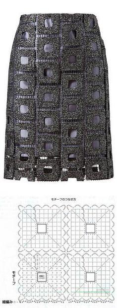 Fabulous Crochet a Little Black Crochet Dress Ideas. Georgeous Crochet a Little Black Crochet Dress Ideas. Mode Crochet, Crochet Art, Crochet Woman, Crochet Motif, Crochet Stitches, Crochet Skirt Pattern, Black Crochet Dress, Crochet Skirts, Crochet Blouse