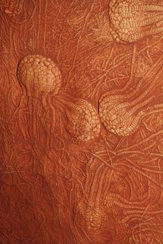 Fossilized crinoids