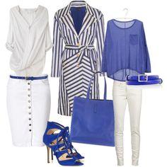 Azul y Blanco, created by nuria-pellisa-salvado on Polyvore