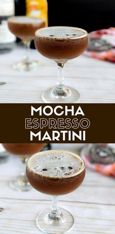 This Mocha Espresso Martini is the perfect blend of chocolate and coffee liqueurs chilled in a coup glass. This brunch cocktail is a nice change of pace from the classic Mimosa for a morning cocktail. Easy coffee cocktail. Easy vodka cocktail. #brunch #brunchrecipe #brunchcocktail #cocktail #cocktailrecipe #coffee #coffeerecipe #morning #martini #vodka #vodkacocktail #mothersday elletalk