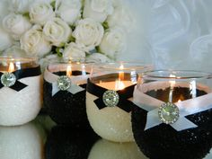 Wedding Wedding Candle Candle Holder Votive Black by KPGDesigns, $49.95