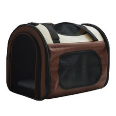 Quno Pet Carrier Dog Bag Cat Tote Strong Breathable Foldable Oxford Fabric Outdoor Travel Hiking Brown S * See this great product. (This is an affiliate link and I receive a commission for the sales)