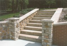 Coping & Stair Treads: Aux Vases Buff Coping & Treads  www.earthworksstone.net