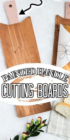 Grab your paint and add an accent to any cutting board or bread board with this easy to follow paint tutorial! #painting #paint #kitchen