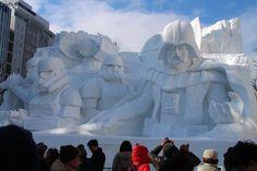 Gigantic Star Wars-themes sculpture