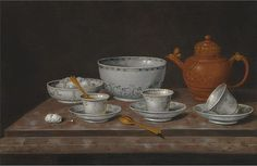 Pieter Gerritsz van Roestraten - Still Life with Teapot and Cups, date? - Germany