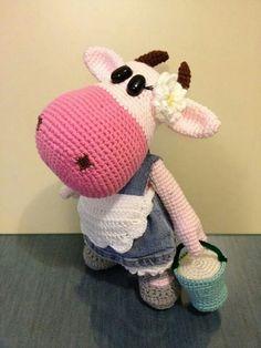 Tutorial Vaca Amigurumi Cow : Vaca em Croche / Amigurumis Cow on Pinterest
