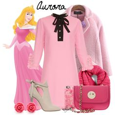 Aurora - Disney's Sleeping Beauty by rubytyra on Polyvore featuring Gucci, Chicnova Fashion, Jimmy Choo, Hill & Friends, Collection XIIX, Casetify, women's clothing, women's fashion, women and female