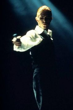 David Bowie on stage as the Thin White Duke.