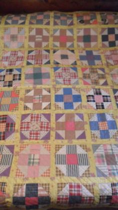 Vintage 1930s 9 blocks quilt (I bought on ebay)