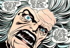 Granny Goodness, a Kirby creation for the Fourth World saga in Mister Miracle Her mission is to destroy Scott Free, a. Comic Book Covers, Comic Books Art, Comic Art, Book Art, Jack Kirby, Marvel Creator, Female Furies, Fourth World, Comic Book Collection