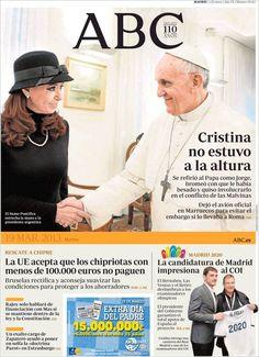 Los Titulares y Portadas de Noticias Destacadas Españolas del 19 de Marzo de 2013 del Diario ABC ¿Que le parecio esta Portada de este Diario Español?