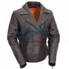 Ladies Biker Hourglass Leather Jacket for $147.00 - https://www.leathercollection.com/en-we/ladies-biker-hourglass-leather-jacket.html