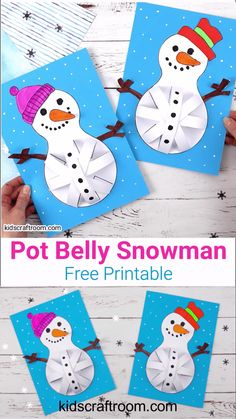 Pot Belly Snowman Craft - These Paper Snowman Crafts for kids to make are so cute. Who could resist their round pot bellie - : Pot Belly Snowman Craft - These Paper Snowman Crafts for kids to make are so cute. Who could resist their round pot bellie - Animal Crafts For Kids, Crafts For Kids To Make, Christmas Crafts For Kids, Toddler Crafts, Craft Kids, Kids Crafts, Christmas Decor, Bear Crafts, Snowman Crafts