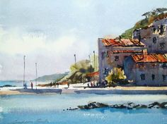 Grahame Booth Watercolor - Google Search Watercolor Scenery, Pen And Watercolor, Watercolor Artists, Watercolor Landscape, Landscape Paintings, Italy Art, Watercolour Painting, Watercolours, Urban Sketching